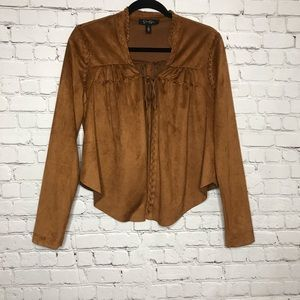 Jessica Simpson faux suede western jacket